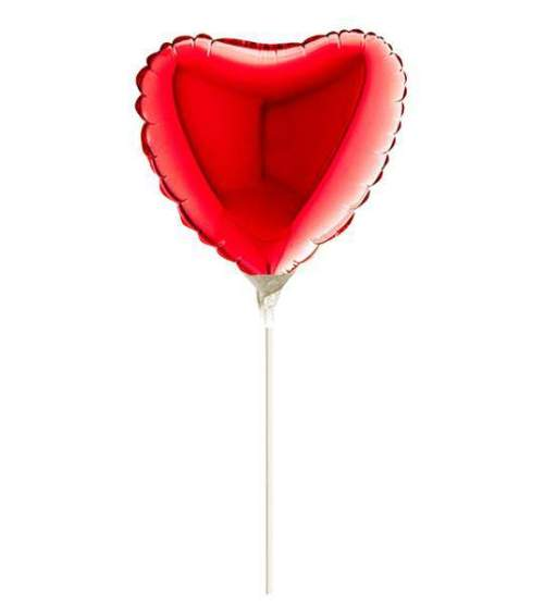 Μπαλόνι με καλαμάκι κόκκινη καρδούλα 22 εκ