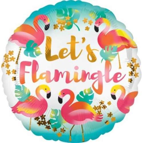 Μπαλόνι στρογγυλό Let's Flamingle