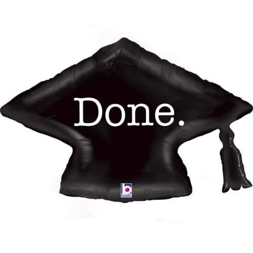 Μπαλόνι για αποφοίτηση καπέλο 'Done'
