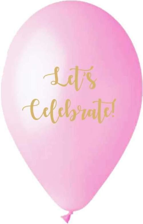 """12"""" Μπαλόνι τυπωμένο Let's celebrate"""