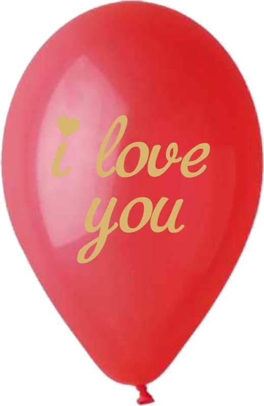 """12"""" Μπαλόνι τυπωμένο χρυσό I Love You"""