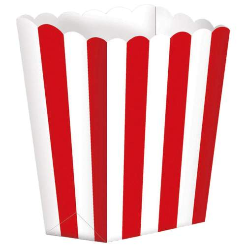 Χάρτινα Κόκκινα τσαντάκια με ρίγες (5 τεμ)