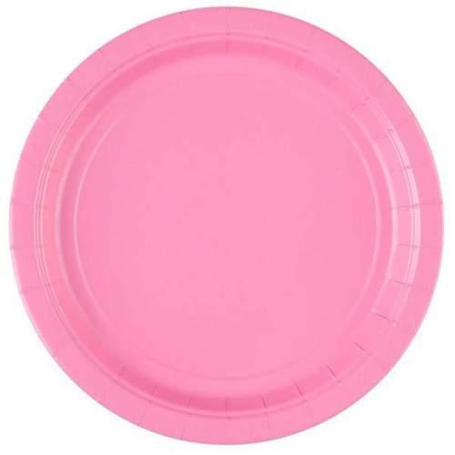 Πιάτα πάρτυ μεγάλα ροζ (8 τεμ)