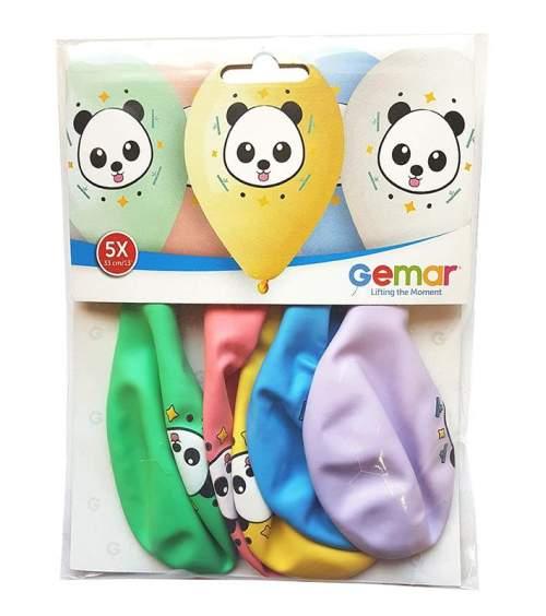 "12"" Panda παστέλ μπαλόνια (5 τεμ)"