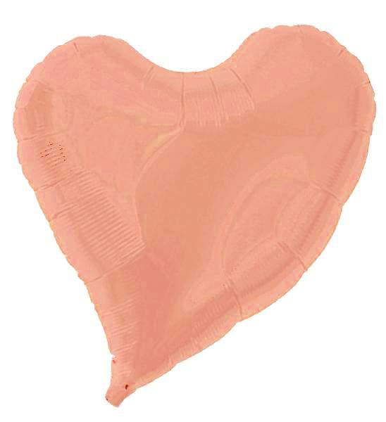 """Μπαλόνι ροζ χρυσή καρδιά με ουρίτσα 18"""""""