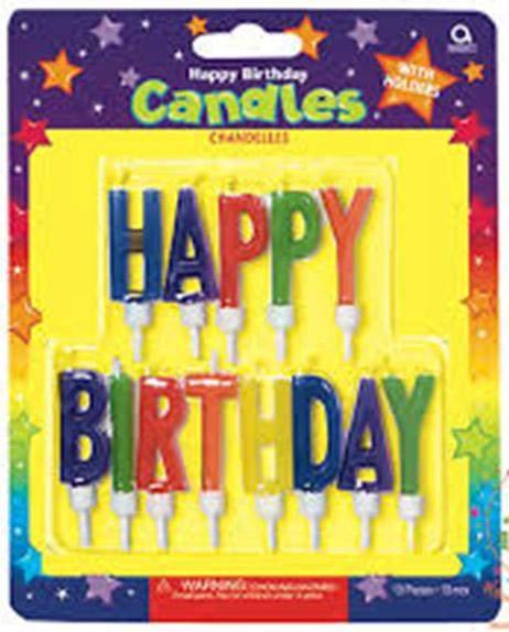 Πολύχρωμα κεράκια τούρτας 'Happy Birthday' (13 τεμ)