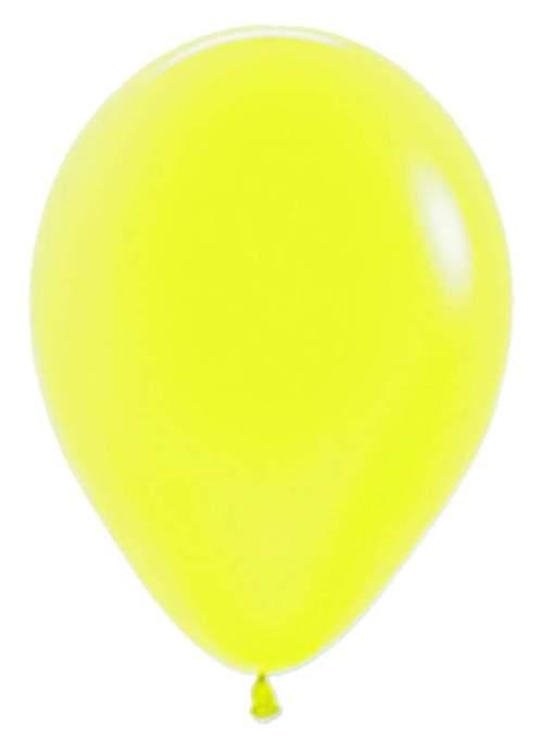 12'' Neon Κίτρινο λάτεξ μπαλόνι