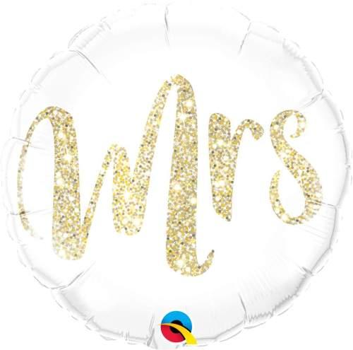Μπαλόνι Mrs χρυσό γκλίτερ 45 εκ