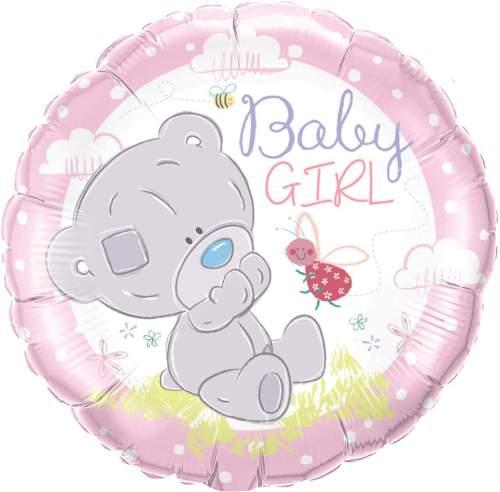 Μπαλόνι γέννησης Αρκουδάκι κορίτσι 45 εκ