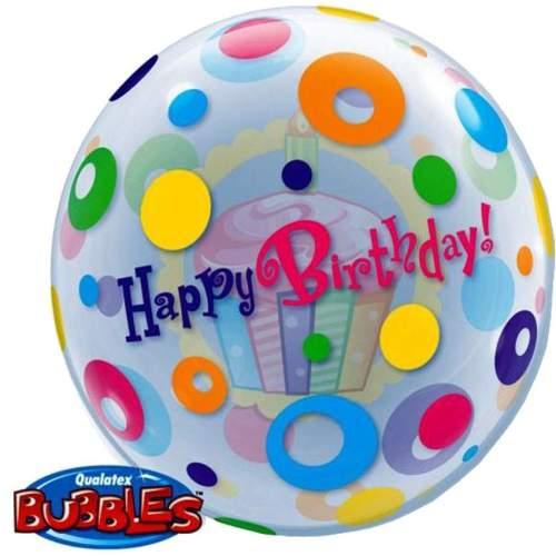 """Μπαλόνι Cup Cake """"Happy Birthday"""" bubble"""