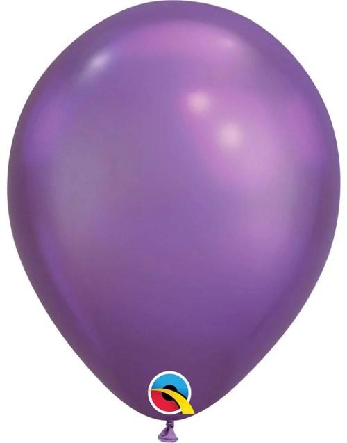 "11"" Chrome Μωβ λάτεξ μπαλόνι"