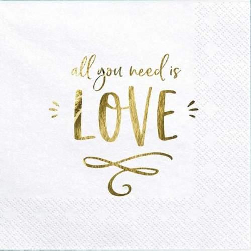 Χαρτοπετσέτες ''All you need is love'' (20 τεμ)
