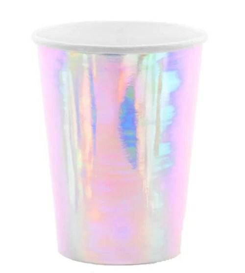 Ποτήρια πάρτυ χάρτινα ιριδίζοντα (6 τεμ)