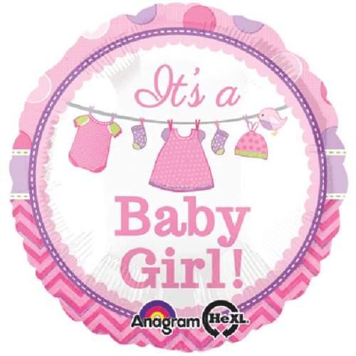 Μπαλόνι γέννησης Its a baby Girl ρουχάκια 45 εκ