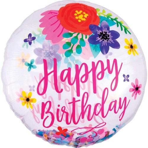 Μπαλόνι γενεθλίων Happy Birthday Floral ORBZ