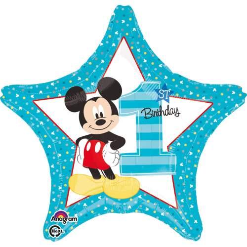 Μπαλόνι για γενέθλια αστέρι Mickey Mouse 1st Bday