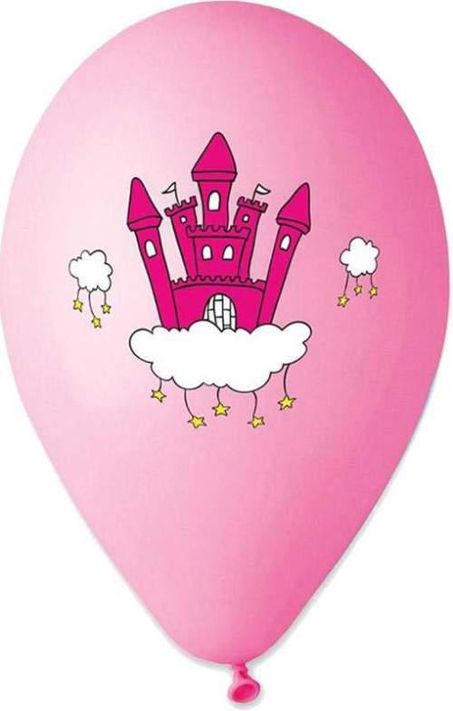"""12"""" Μπαλόνι τυπωμένο Κάστρο Πριγκίπισσας"""