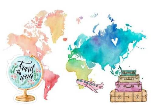 Σουπλά τραπεζιού Travel the World