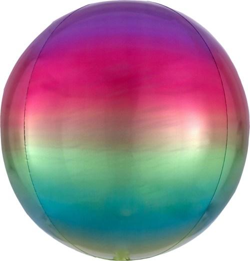 Μπαλόνι Ombre ουράνιο τόξο σφαίρα