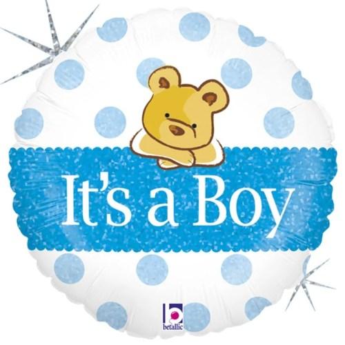 Μπαλόνι γέννησης Baby Boy αρκουδάκι 45 εκ