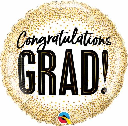 Μπαλόνι αποφοίτησης Congratulations Grad κομφετί 45 εκ
