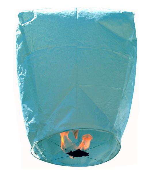 Χάρτινο Ιπτάμενο φαναράκι γαλάζιο