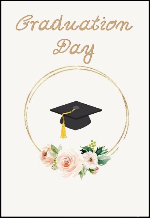 Ευχετήρια Κάρτα για Αποφοίτηση (σχέδιο 3)