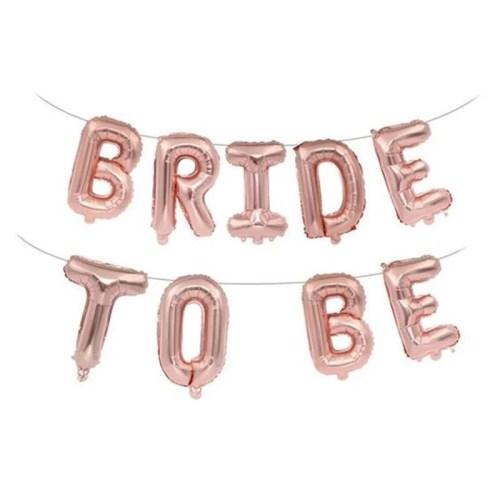 Μπαλόνι ροζ χρυσό Bride to be (9 τεμ)
