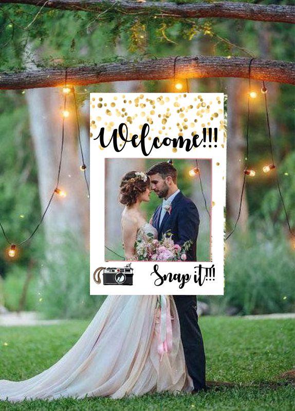 Κάδρο Photo Booth Γάμου κάμερα