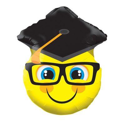 Μπαλόνι αποφοίτησης φάτσα με καπέλο 45 εκ