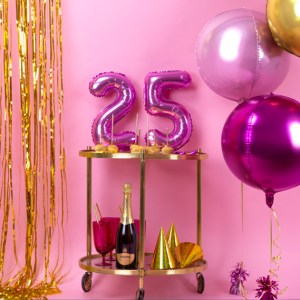 "14"" Pink Air Filled Numbers"