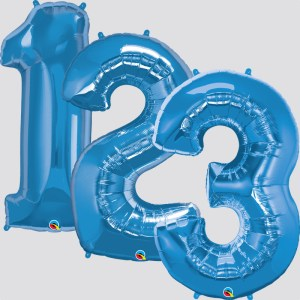 """34"""" Helium Filled Blue Numbers"""