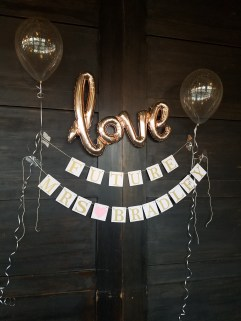 Special decor for the future Mrs. Bradley!