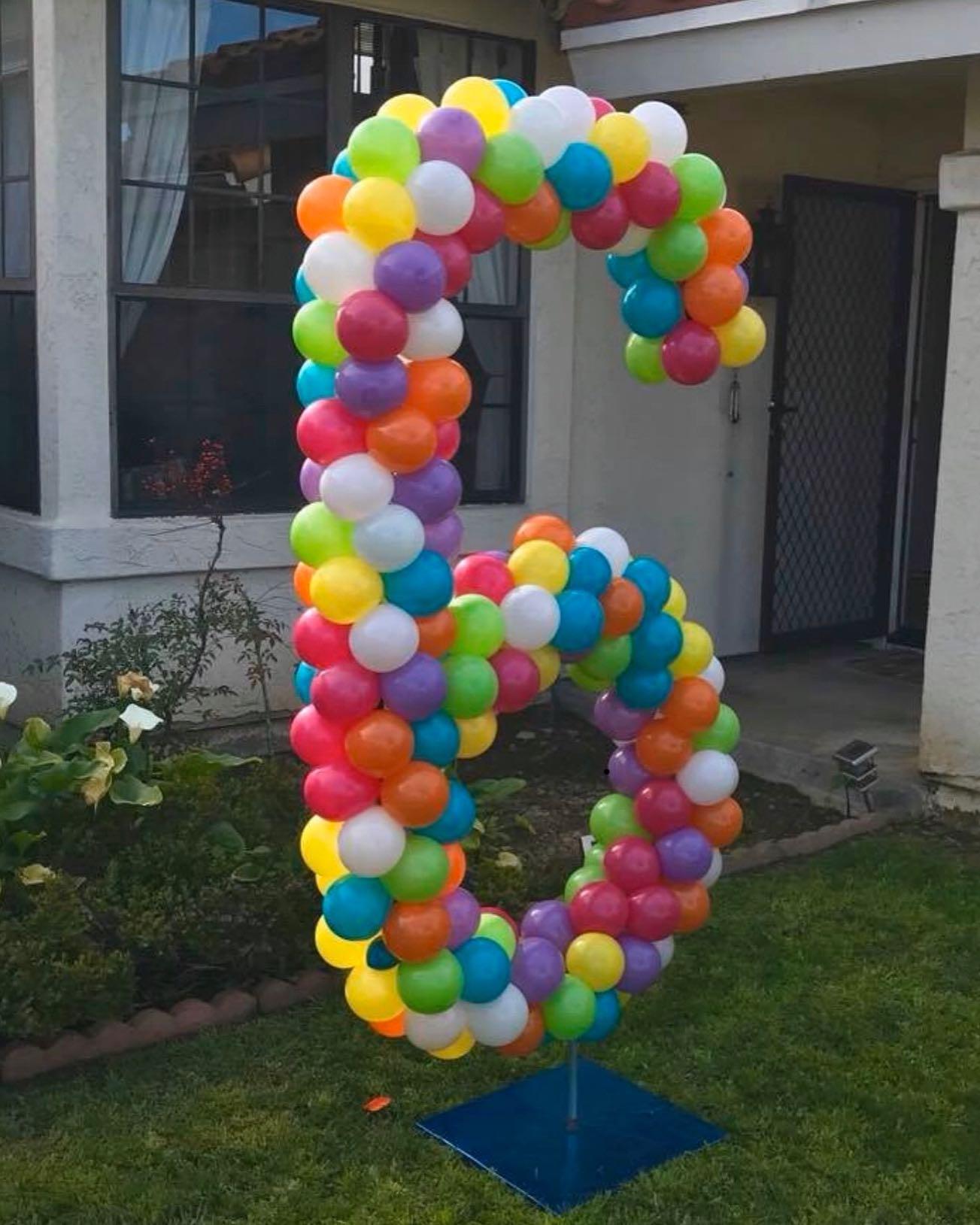 Balloon Lettering Balloon Columns San Diego