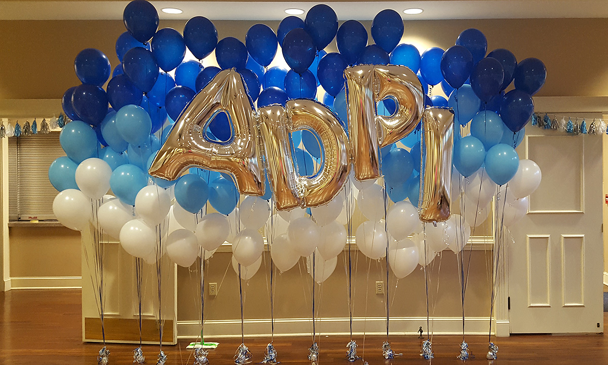 Helium balloons for sorority Rush Week, by Balloonopolis, Columbia, SC