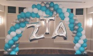 ZTA balloon arch, Balloon Numbers and Letters, by Balloonopolis, Columbia, SC