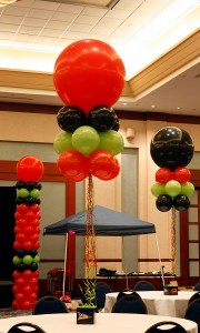 3ft Cloud Balloon Centerpiece, by Balloonopolis, Columbia, SC