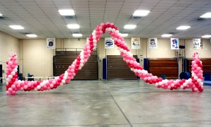 Pink Balloon Garland, by Balloonopolis, Columbia, SC