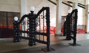 Black Balloon Gate for Prom, by Balloonopolis, Columbia, SC