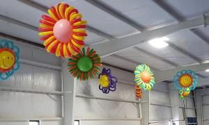 Hanging Giant Balloon Flowers, by Balloonopolis, Columbia, SC