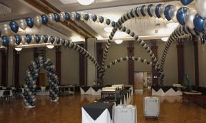 Blue and silver balloon dancefloor, by Balloonopolis, Columbia, SC