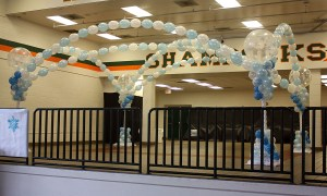 frozen themed balloon dancefloor, by Balloonopolis, Columbia, SC
