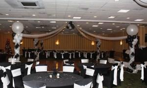 Black and White Balloon Dance Floor, by Balloonopolis, Columbia, SC