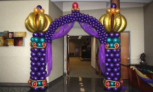 Arabian Nights themed balloon arch, by Balloonopolis, Columbia, SC