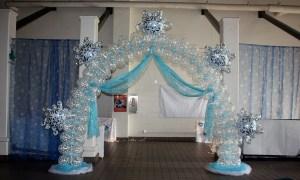 Frozen Themed Balloon Arch, by Balloonopolis, Columbia, SC
