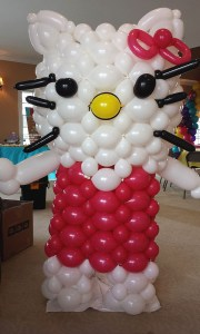 6ft. Cat Balloon Greeter, by Balloonopolis, Columbia, SC - Birthday Parties - Balloon Greeters
