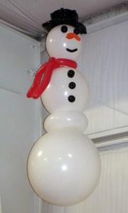 Hanging balloon snowman, by Balloonopolis, Columbia, SC