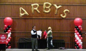 Megaloon Balloon Arch for Arby's, Balloon Numbers and Letters, by Balloonopolis, Columbia, SC