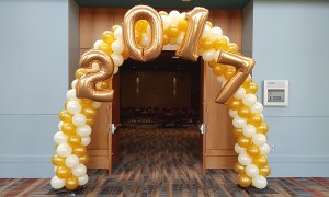 2017 balloon arch, by Balloonopolis, Columbia, SC