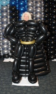balloon superhero costume, by Balloonoplis, Columbia, Sc